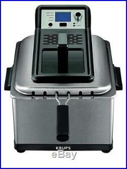 KRUPS KJ502D51 Deep Fryer, Electric Stainless Steel Triple