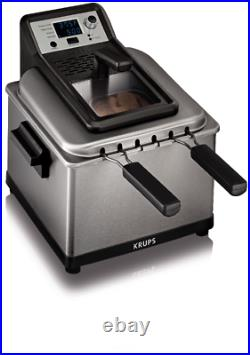 KRUPS Stainless Steel Professional Deep Fryer with 3 Frying Baskets, 1 Piece, New