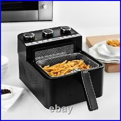 Kalorik 2-in-1 Air and Deep Fryer, Black