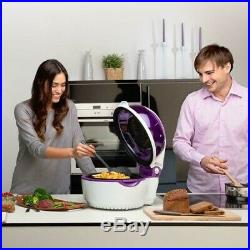 Klarstein Electric Hot Air Deep Fryer Friteuse Grill Grease Free Purple/White