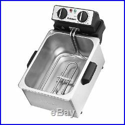 Large Deep Fryer 1 Gallon Stainless Steel Electric Hot Oil Fryer with Fry Basket