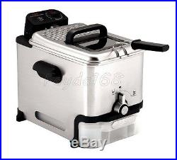 Machine Deep Fryer Food Cooking Fry Basket French Fries Stainless Steel Kitchen
