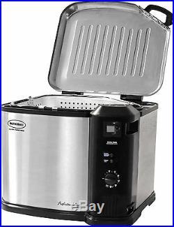 Masterbuilt Butterball Electric Deep Turkey Fryer Cooker Indoor XL Steel New