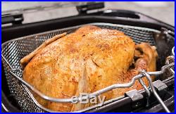 Masterbuilt Butterball XL Electric Deep Fryer Timer Stainles 20LB Turkey Chicken