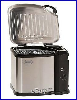 Masterbuilt Electric 20 lb Turkey Fryer Butterball XL 1650W, Stainless Steel