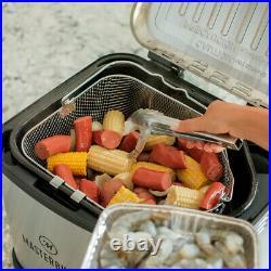 Masterbuilt MB20012420 Butterball XL 10 Liter Electric Deep Fryer Boiler Steamer