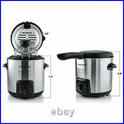 Mini Deep Fryer With Removable Basket, 0.9L, Stainless Steel, A