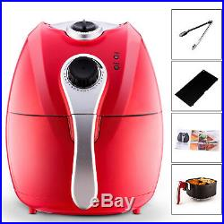 Multi-function Electric Deep Fryer Oil-Less Low Fat Red Air Fryer 1500W Indoor