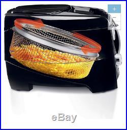 NEW 1.06 Qt Quart Black Indoor Electric Deep Fryer Kitchen Countertop Cooking