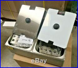 NEW 12L Double Electric Deep Fryer Counter Top Model Single Basket With Cover 110V