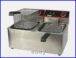 NEW 22 Double Well Electric Countertop Deep Fryer 32 LB Winco EFS-32 #9979 ETL
