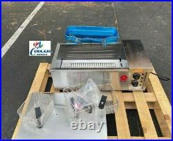 NEW 24L Electric Deep Fryer Counter Top Model FY25 Large Wide Basket 220V