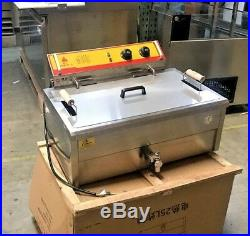 NEW 25L Electric Deep Fryer Counter Top Model FY25 Large Wide Basket 220V