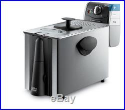 NEW 4 Qt Quart Indoor Electric Duel Zone Tank Deep Fryer Kitchen Stainless Steel