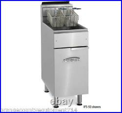 NEW 50 LB Electric Deep Fryer Stainless Steel Pot Imperial IFS-50E #4567 Floor