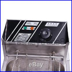 NEW 6L Single Cylinder Electric Deep Fryer Frying Oven For Potato Chicken 220V