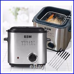 NEW BSW BS-15084-DF Electric Mini Deep Fryer 220V 840W Low Fat Fryer & Fondue