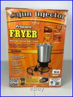 NEW Cajun Injector 30 qt. Aluminum Propane Turkey Fryer Seafood Broiler Steamer