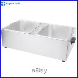 NEW Commercial Electric Deep Fryer Countertop Dual Tank 20 lb Stainless Steel