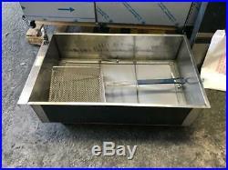 NEW Giles 3 Bay Electric Deep Fryer with Dump Station EOF-24 Restaurant Equipment