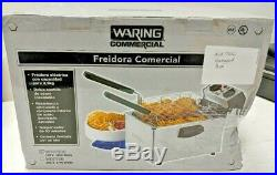 NEW ROUGH BOX WARING COMMERCIAL ELECTRIC DEEP FRYER With TIMER 120V WDF75RC