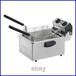 NEW WARING COMMERCIAL COUNTERTOP ELECTRIC DEEP FRYER With TIMER 208V WDF75B
