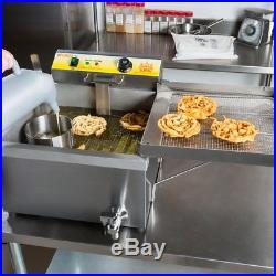 NIB 25 lb. Electric Countertop Funnel Cake / Donut Deep Fryer 120V