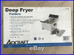 NIB Heavy Duty ADCRAFT Electric Countertop Commercial Deep Fryer withBascket DF-6L