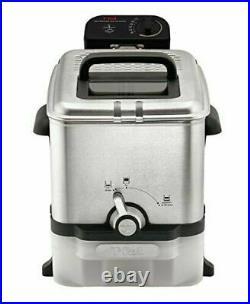 NIB T FAL Deep Fryer with Basket Stainless Steel Easy to Clean Deep Fryer Oil