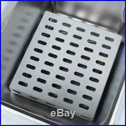 New 16L Commercial Deep Fryer Basket Scoop Fast Food French Fries Electric Fryer