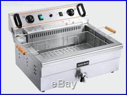 New High-quality Commercial Electric Deep Fryer Single tank 20L with timer 220V