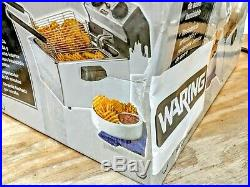 New Waring Commercial Countertop Electric Deep Fryer 120v Wdf75rc Rough Box