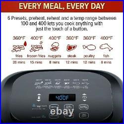 NuWave 37001 6-Qt 1800W Digital Air Fryer PREHEAT & REHEAT Function