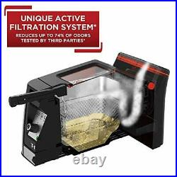 Odorless Stainless Steel lean Deep Fryer with Filtration System, Silver