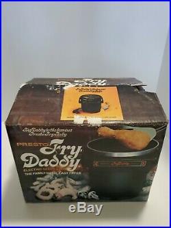 Orginal Fry Daddy Presto Electric Deep Fryer Model 01/FDF 1 Series 4378 Vintage