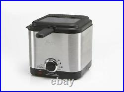 Oster Deep Fryer Stainless Steel Compact Small Mini Electric Home Kitchen Food