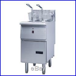 Pantin Commercial Electric 40 lb Capacity Floor Model Deep Fryer Range 14,000W