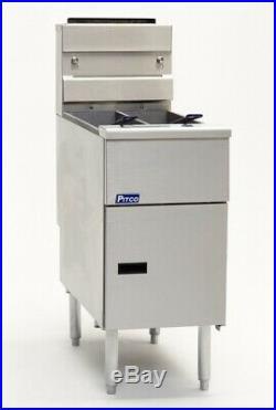 Pitco SE14T 50LB. Electric Twin Vat Solid State Deep Fryer