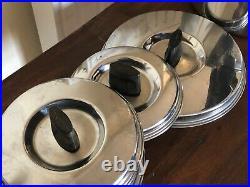 Prestige Stainless Steel Copper Bottom Saucepan Set Incl. Deep Fryer + Milk Pan