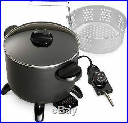 Presto Kitchen Kettle Electric Multi Cooker Roaster Steamer Deep Fryer Basket
