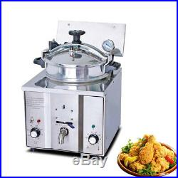 Pro Electric Countertop Pressure Fryer 16L Stainless Chicken Fish 110V/220V