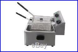 Professional 11l Electric Deep Fryer Stainless Steel Fryer
