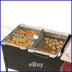 Propane Deep Fryer Patio Deck Cooker Camping Fishing Portable Outdoor 3 Basket S