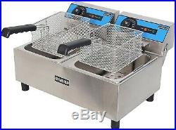 Refurbish Commercial Electric Deep Fryer Double Well Double Basket, 110V / 60Hz