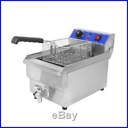 Restaurant Commercial Electric 11.7L Deep Fryer Stainless Steel with Timer Drain