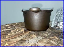 Restored WAGNER Cast Iron Deep Fryer 1265, Replacement Lid, Basket, Ready To Use