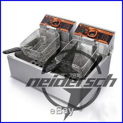 Single cylinder Double Screen Electric Deep Fryer Frying Oven HY-83R 220V 11L
