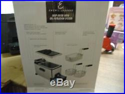 Stainless Deep Fryer With Removable Basket Oil Filtration System Emeril Lagasse