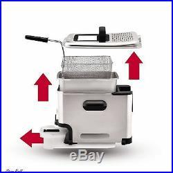 Stainless Steel Deep Fryer Immersion Oil Filtration Ultimate 3.5Liter Fry Basket