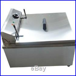 Stainless Steel Funnel Cake Mold Commercial Deep Fryer with 2 Ring Molds